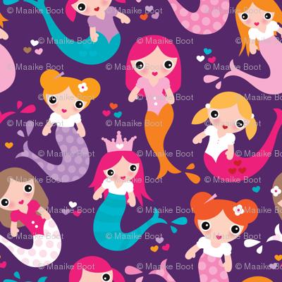 Violet mermaid girls