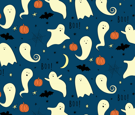 Night Ghosts fabric by wysedesigns on Spoonflower - custom fabric