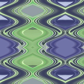 Green & Blue Hourglass Abstract