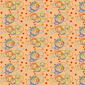 Multi-colored CirclesandDots (Peach)