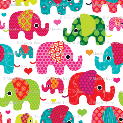 Retro kids indian elephant pattern fabric fabric for Kids pattern fabric