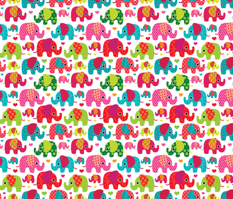 Retro kids indian elephant pattern fabric fabric for Children s animal print fabric