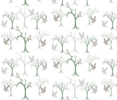forest_ghosts_grid_tile fabric by fernery on Spoonflower - custom fabric