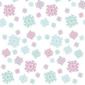 Pastel Snowflakes