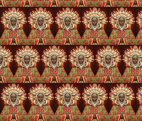 African-Goddess fabric by wanganegresse on Spoonflower - custom fabric