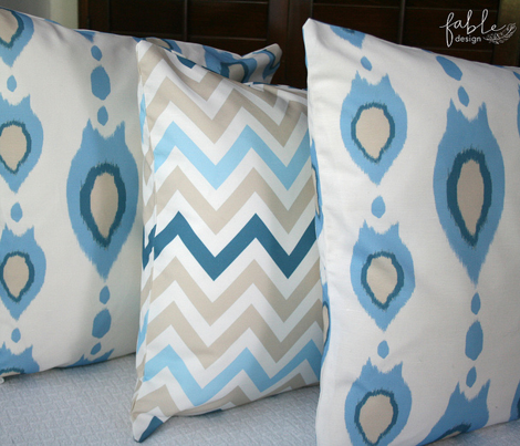 Blue Ikat Arrows