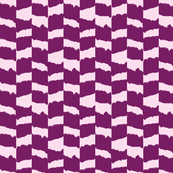 ikat rectangles - pink and aubergine
