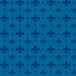 Fleur-de-lis Two Tone Blue