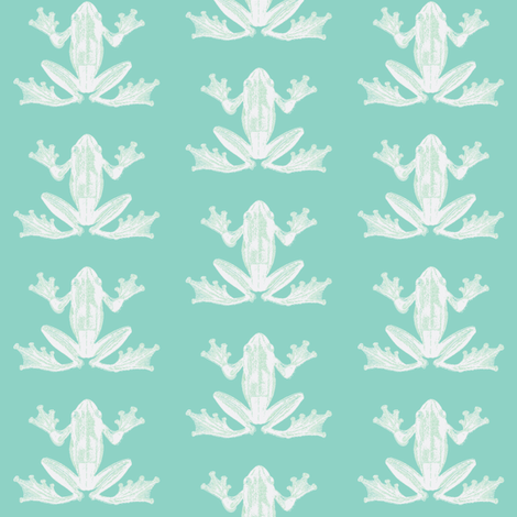Frog Naturalist Illustration in Calming Green fabric by lisakling on Spoonflower - custom fabric