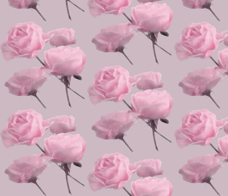 Pink Drifting Roses  fabric by koalalady on Spoonflower - custom fabric