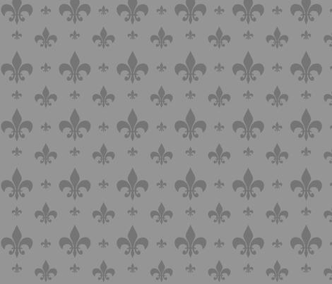 Grey Tone on Tone Fleur-de-lis fabric by carbonatedcreations on Spoonflower - custom fabric