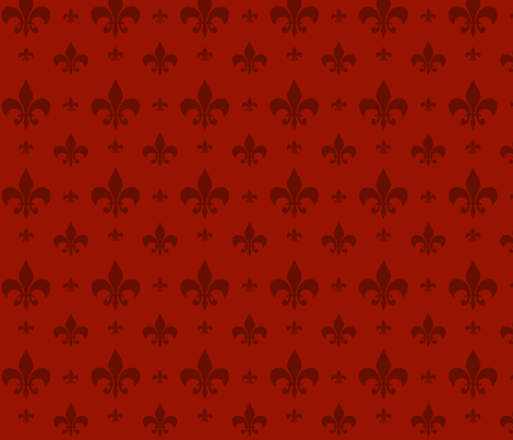 Red Tone on Tone Fleur-de-lis fabric by carbonatedcreations on Spoonflower - custom fabric