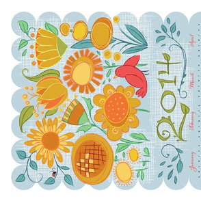 2014 Garden Friends Calendar_YlwOrg