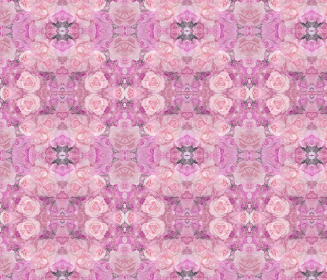 Pink  Paper Roses fabric by koalalady on Spoonflower - custom fabric