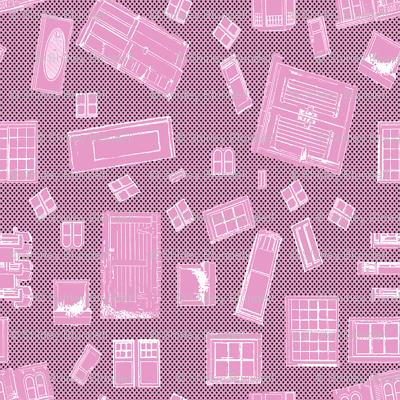Pink Windows and Doors