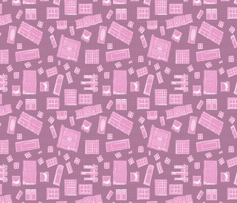 Pink Windows and Doors fabric by koalalady on Spoonflower - custom fabric