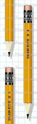 No. 2 Pencil*    writing art drawing school office supplies graph paper geek nerd math science