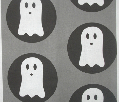 Spooky Polka Grey