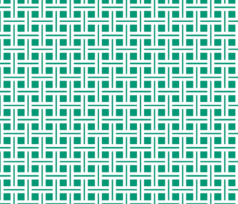 White on Emerald Open Weave Stripes fabric by carbonatedcreations on Spoonflower - custom fabric