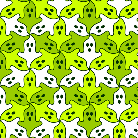 ghost 3 x3 fabric by sef on Spoonflower - custom fabric