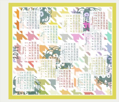 Colorful Colendar 2014 fabric by littlerhodydesign on Spoonflower - custom fabric