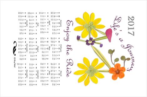 2017 Bike Calendar Tea Towel fabric by mypetalpress on Spoonflower - custom fabric