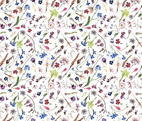 bohemian meadow fabric by mypetalpress on Spoonflower - custom fabric