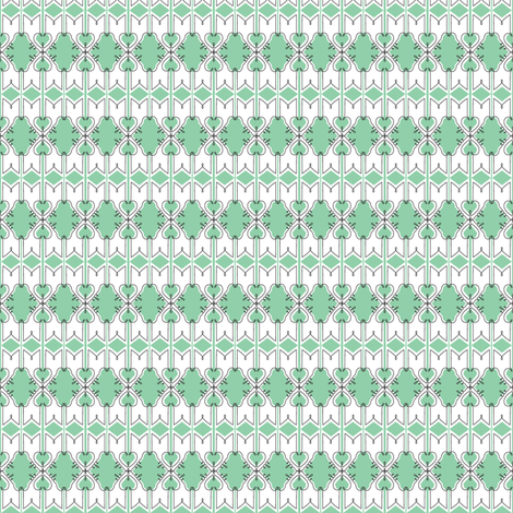 Branford* (Green Stamps) || French typography wrought iron New Orleans flourish diamonds fabric by pennycandy on Spoonflower - custom fabric