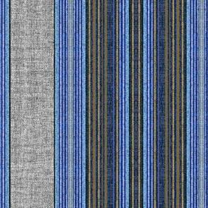Denim stripe linen texture