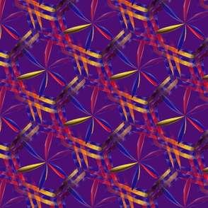 Spirograph Hexagons on Purple