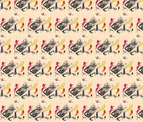 flyinghouse fabric by serenity_ii on Spoonflower - custom fabric