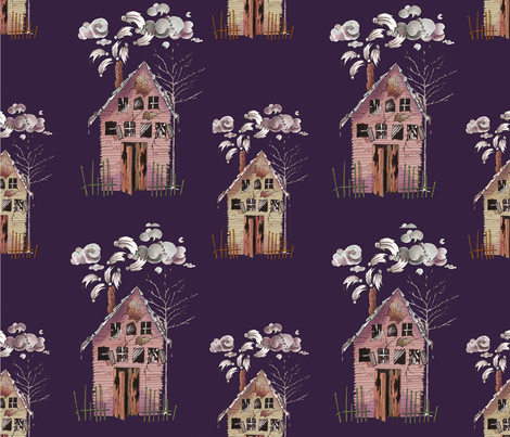 A Haunted Halloween fabric by jflanagan on Spoonflower - custom fabric