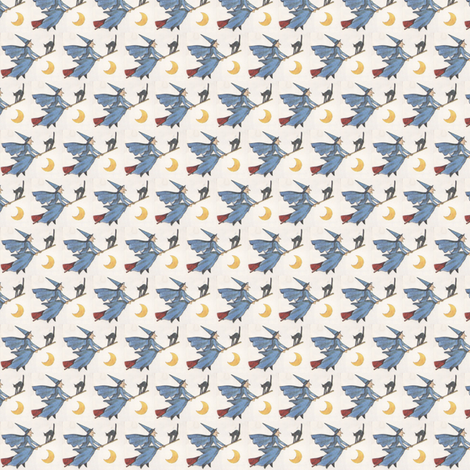 little witches fabric by annemclean on Spoonflower - custom fabric