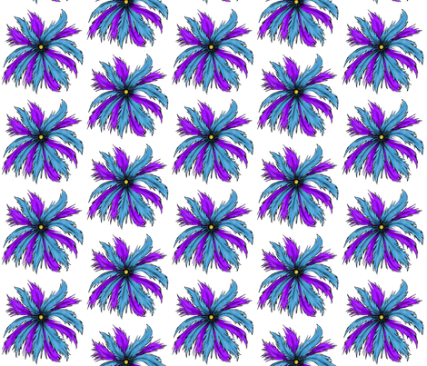 Feather Medallion-Light fabric by essieofwho on Spoonflower - custom fabric