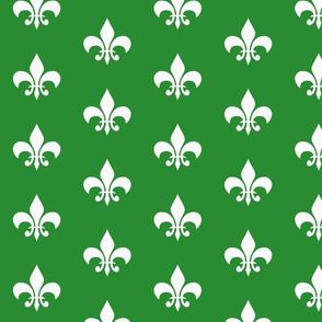 single_fleur_de_lis_green