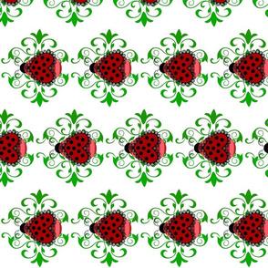 lovely ladybug on white horizontal
