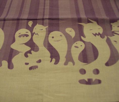 Cute Ghost Border Print