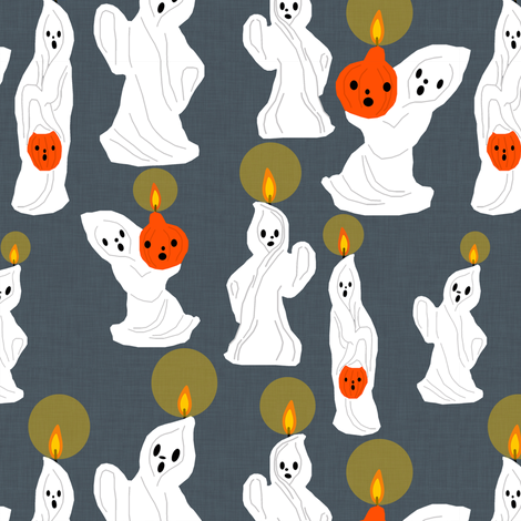 the candle ghosts fabric by heidikenney on Spoonflower - custom fabric