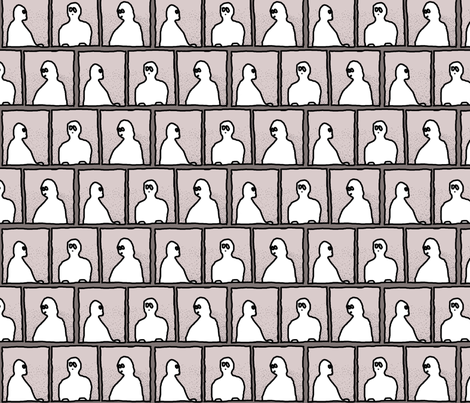 ghosts in the window fabric by annemclean on Spoonflower - custom fabric
