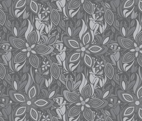 Grey Frog Grey Frog fabric by ebygomm on Spoonflower - custom fabric