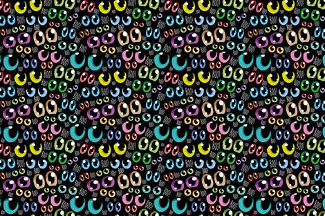 Manga eyes fabric by cassiopee on Spoonflower - custom fabric