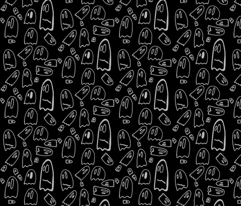 Spook_zwart fabric by schuil on Spoonflower - custom fabric