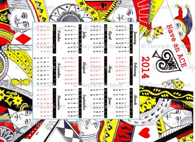Playing cards 2014 calendar -ed
