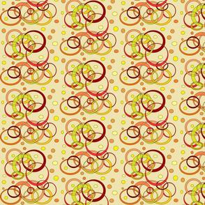 Orange,Red+YellowCirclesandDots(Cream)