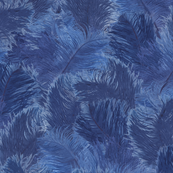Ostrich Feather - large Indigo