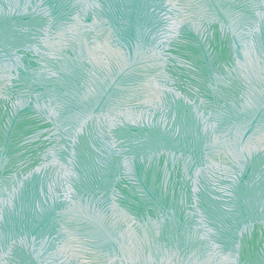 Ostrich Feather - large pale blue