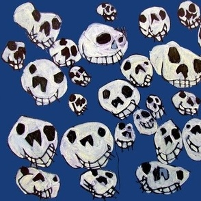 Flying Skulls: large/navy