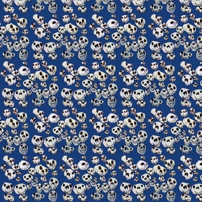 Flying Skulls: small/navy