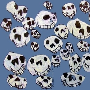 Flying Skulls: large/cornflower
