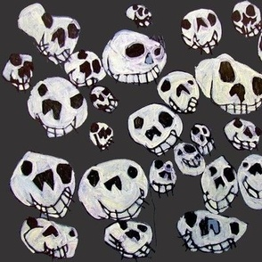 Flying Skulls: large/charcoal
